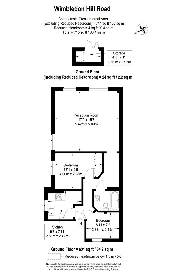 Floorplan for Wimbledon Hill Road, Wimbledon
